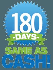 180 Days Same as Cash Logo